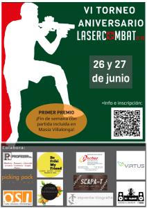 Cartel torneo laser combat